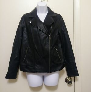 Old Navy faux leather motorcycle jacket